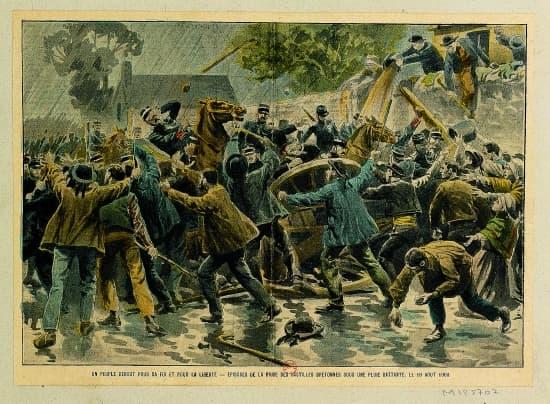 Manifestation anti-Combes en Bretagne, 1902