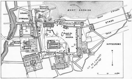 Plan De La Ville D Olympie