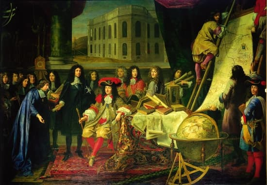 Visite de Louis XIV à l'Académie des Sciences