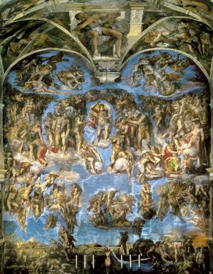 """"""" La Vie de Peintres Célèbres en Vidéo """" 1313947-Michel-Ange_le_Jugement_dernier"""