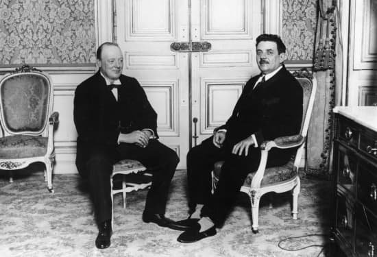 Winston Churchill et Édouard Herriot en 1925