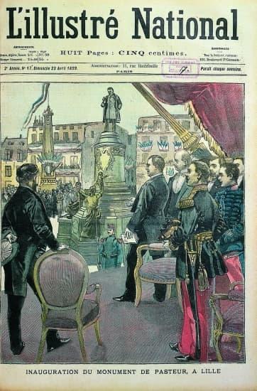Le monument à Pasteur