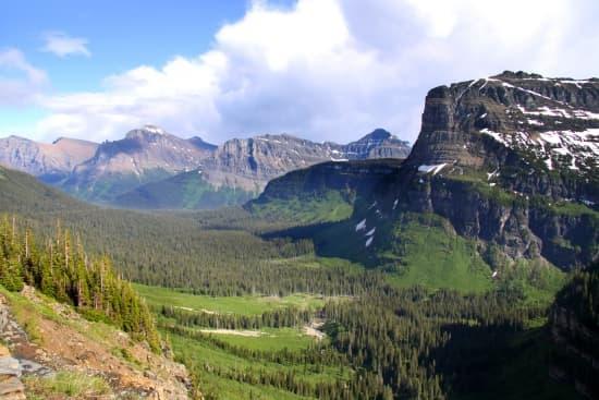 Montagnes Rocheuses, le lac Louise Montagnes Rocheuses, le parc ...
