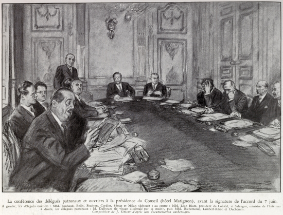 Les accords Matignon, 7 juin 1936