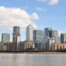 Londres, Tamise et Canary Wharf.
